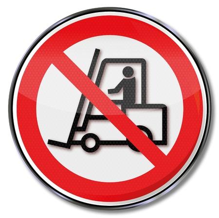 ocupacional: Las se�ales de seguridad prohibida para camiones Vectores