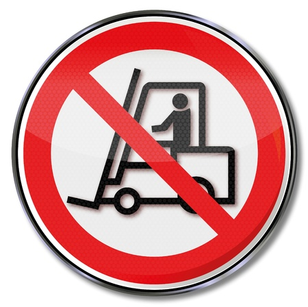 Safety signs prohibited for truck Vector
