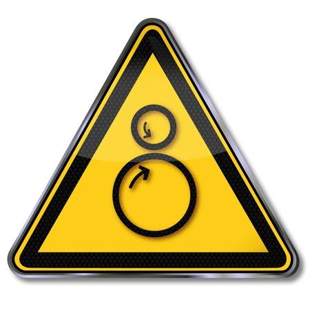 signos de pesos: Signos de peligro advirtiendo contra la amenaza de entrada Vectores