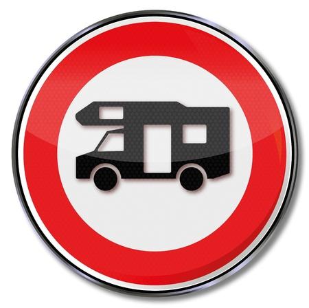 rv: Sign with RV Illustration