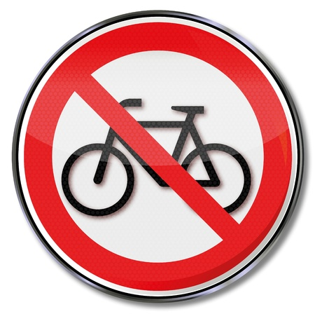 Prohibited sign off bike Stock Vector - 14777985