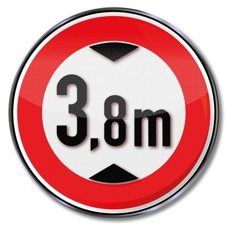 minimální: Dopravní značka minimální výška Ilustrace