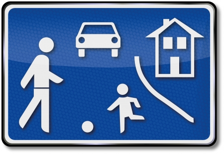 Game road traffic sign Vector