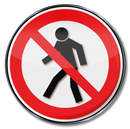workplace safety: Prohibition signs for pedestrian prohibited Illustration