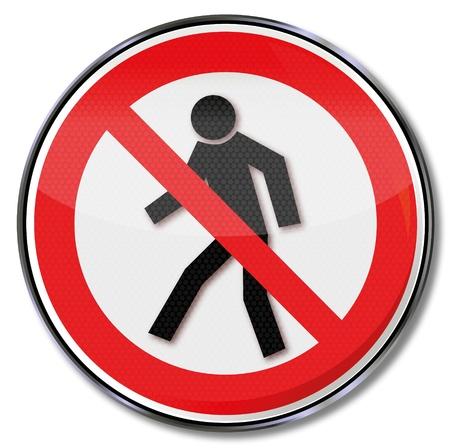 prohibido: Señales de prohibición prohibido para peatones