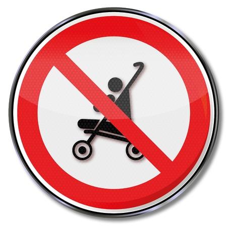 meaning: Reg�strate prohibici�n de los cochecitos