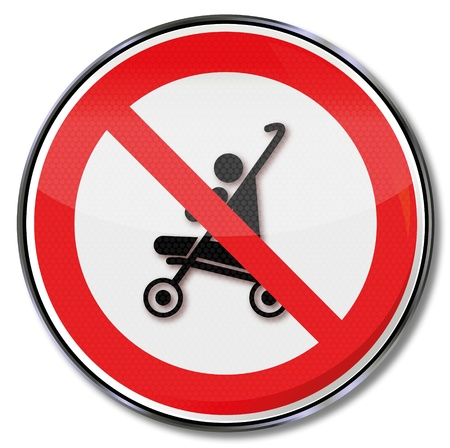 Sign ban on strollers Vector