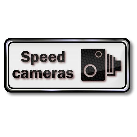 speeder: Radar traffic sign Illustration