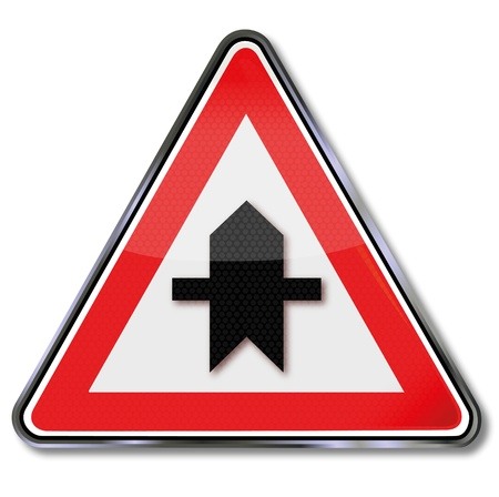 right way: Traffic sign right of way Illustration