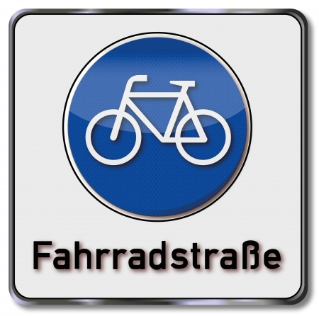Traffic sign road cycling Vector