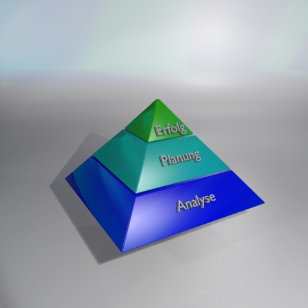 Pyramid and success Stock Photo - 14777989