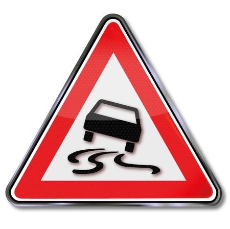 unsure: Traffico segno slittamento