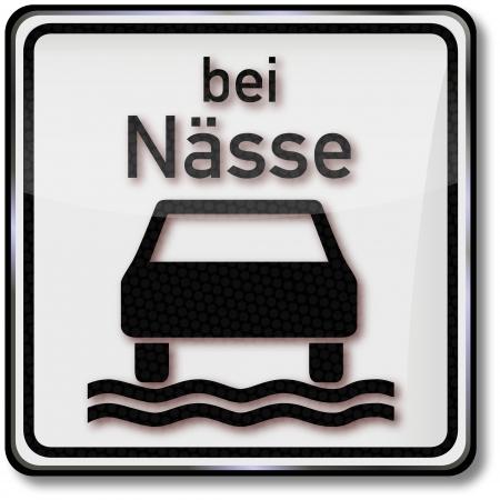 fcc: Traffic sign aquaplaning Illustration