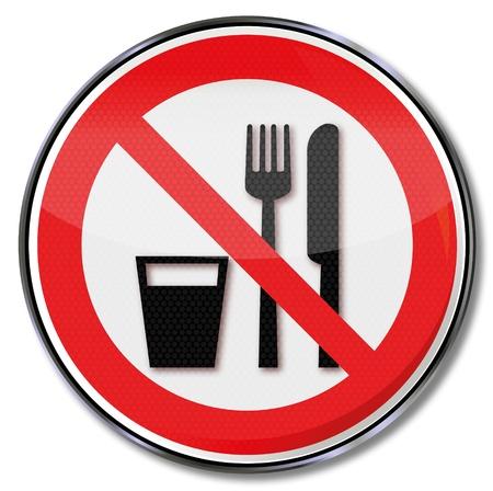 förbjuda: Förbjuda äta och dricka förbjudna tecken