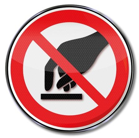 interdiction: Des panneaux d'interdiction interdit toucher Illustration