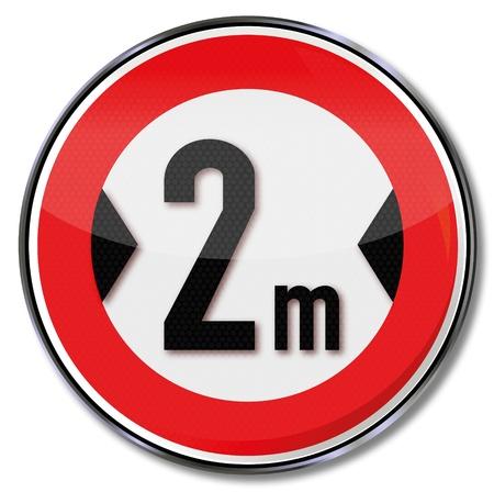 width: Traffic sign minimum width 2m