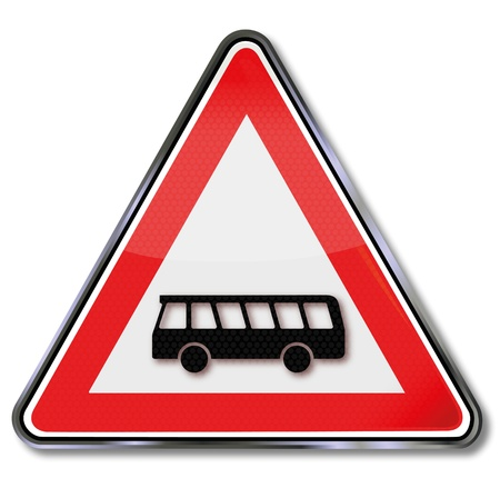Bus traffic sign Stock Vector - 14856947