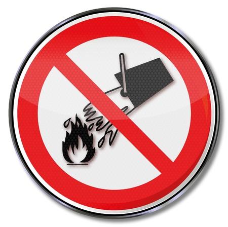 prevencion de accidentes: Se�ales de prohibici�n no utilizar el agua Vectores