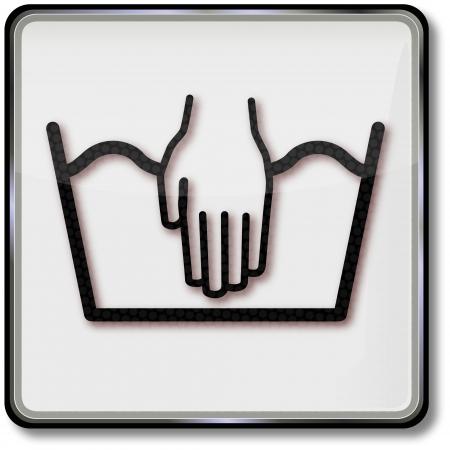 laver main: Lavage � la main soin des tissus symbole