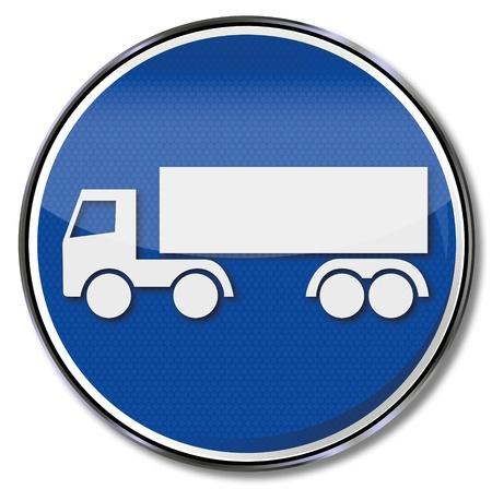 Sign truck Stock Vector - 14856953