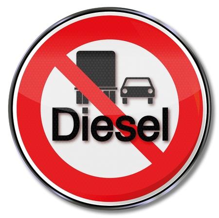 Diesel and sign Feinbstaub Stock Vector - 14856958