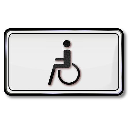 Traffic sign wheelchair Stock Vector - 14856961
