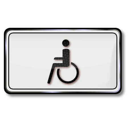 Traffic sign wheelchair Stock Vector - 14856961