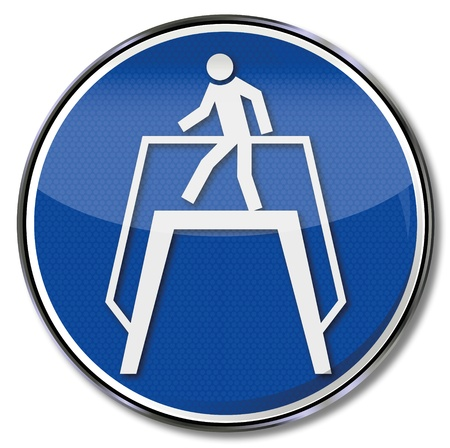 occupational risk: Safety signs Transition for Workers