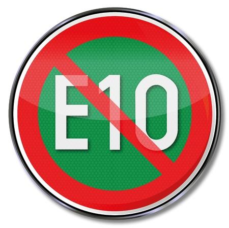 Sign E10 fuel Stock Vector - 14856971