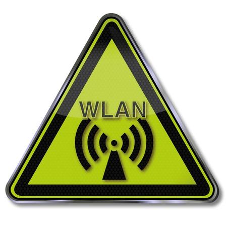 warning triangle: Shield Wireless Illustration