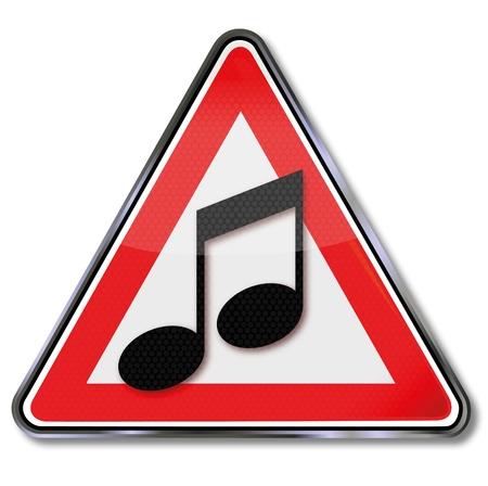 record player: Shield musical score Illustration