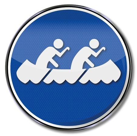 paddle: sign canoeing
