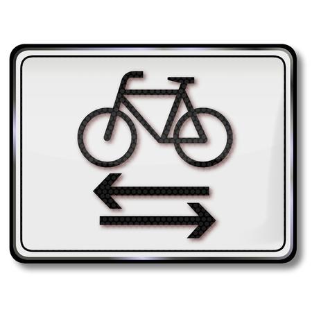 Road sign cyclists Ilustração