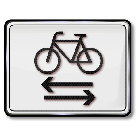 Road sign cyclists Illustration