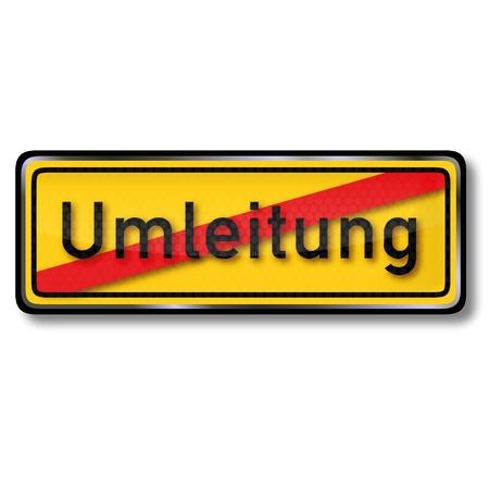 detour: Detour traffic sign Illustration