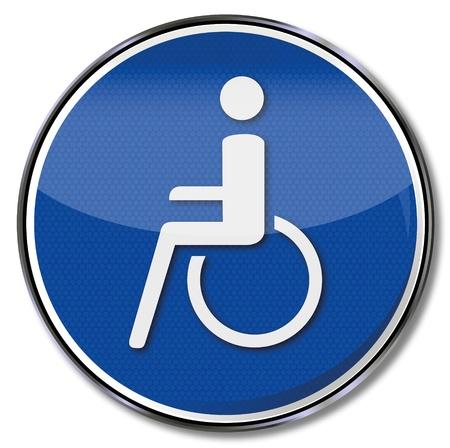osh: Sign wheelchair Illustration