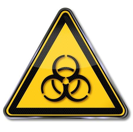 bio hazardous: Danger sign biohazard Illustration
