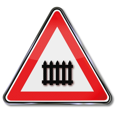 Road sign crossing Vector