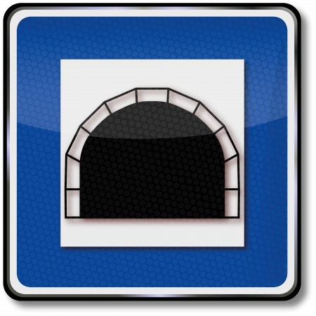 Tunnel traffic sign Vector