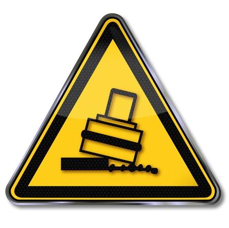 Danger sign warning of danger of tipping Stock Vector - 14950705