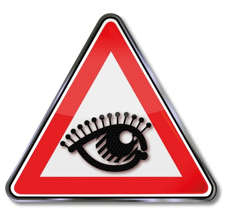 triangle button: Eye shield Illustration