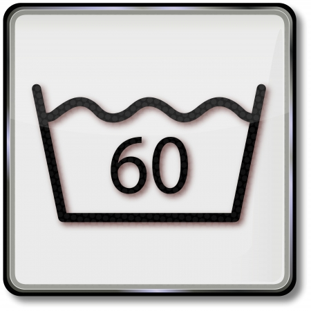 textile care: S�mbolo textil cuidado lavar 60 grados