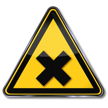 substances: Danger sign warning of harmful substances