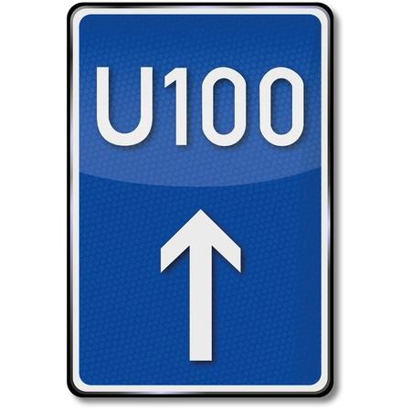detour: Detour traffic sign 100