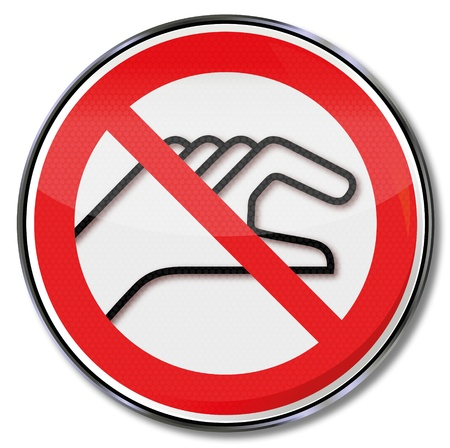 divieto: Segnali di divieto vietato immergere le mani