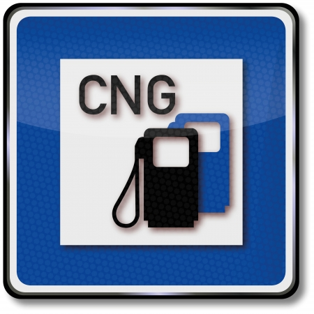 Road sign natural gas station Vector