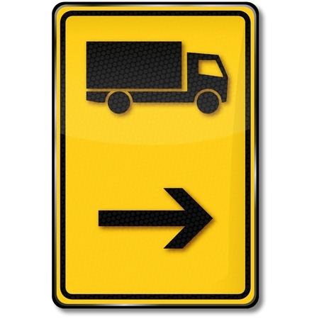 diversion: Road sign truck diversion