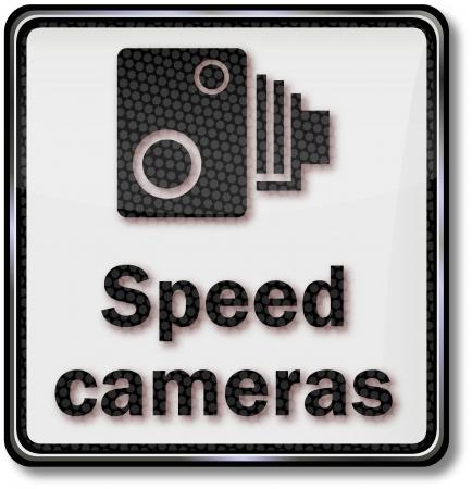 Road sign speed cameras Stock Vector - 14981900
