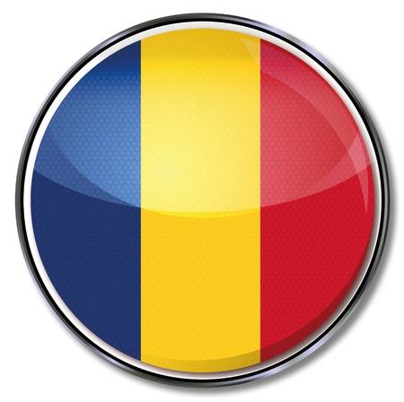 romania flag: Button Romania
