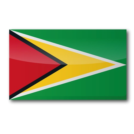 georgetown: Flag Guyana